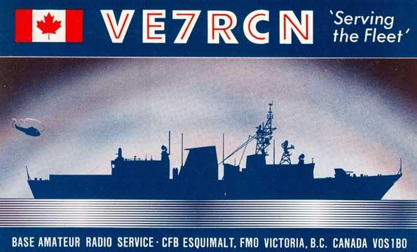 ve7rcn qsl VE7RCN, Used by athe amateur station at CFB Esquimalt, BC.